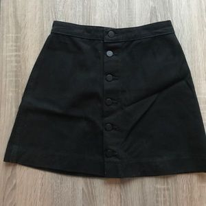 Black denim skater skirt